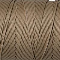 Schmuckband, Durchmesser 1 mm, hellbraun, Länge 1 m