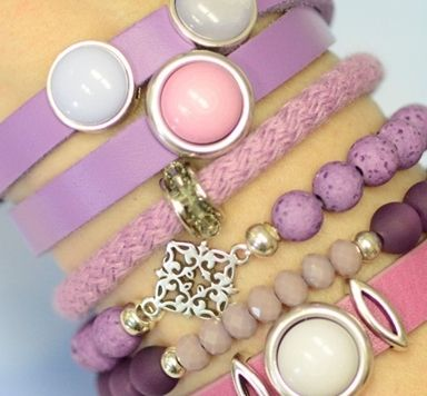 Armbänder zum Farbtrend RoyaL Lilac