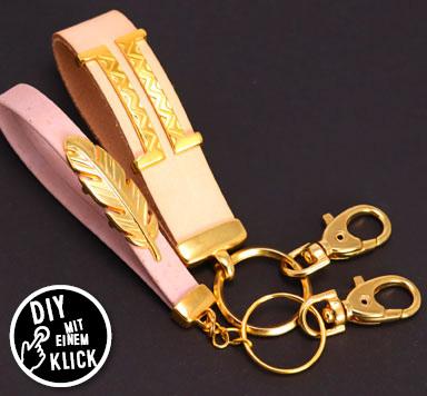 DIY Schlüsselanhänger mit Doppelendkappen