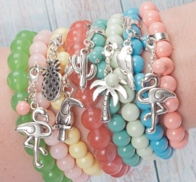 Tropical Beach Slider und Charms