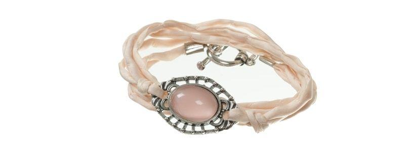 Cabochon Armband Rosa