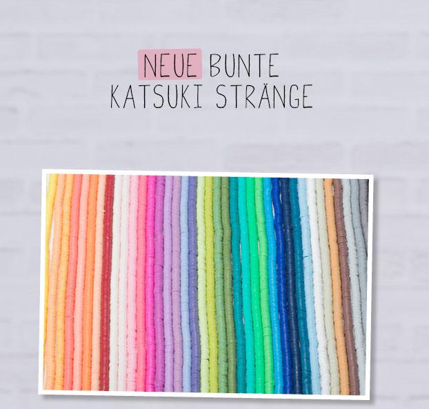 bunte Katsuki Perlen Stränge