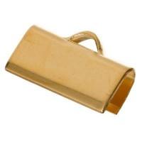 Bandklemme für flaches Band, 12 mm, vergoldet