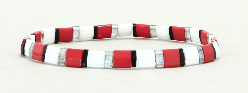 Elastisches Armband mit Tila-Perlen Mix Royal Flush