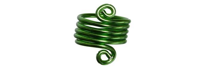 Spiral Ring Grün