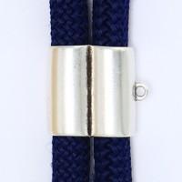 Metallperle Doppelröhre für Segelseil mit Länge 10 mm, Durchmesser, versilbert