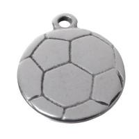 Metallanhänger Fußball, 27 x 23 mm, versilbert