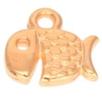 Metallanhänger Fisch, 9 x 9 mm, vergoldet