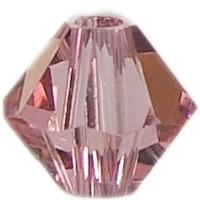 Swarovski Elements Bicone, 4 mm, light rose