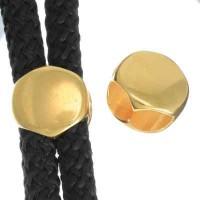 Schieber, rund 12 mm, vergoldet, geeignet für 5 mm Segelseil