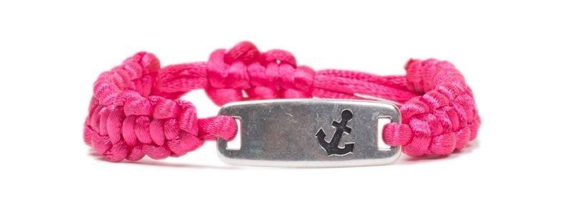 Makramee-Armband Anker Pink