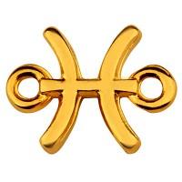 Armbandverbinder Sternzeichen Fische, 12 x 10 mm, vergoldet