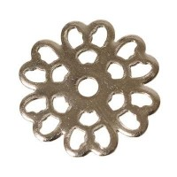 Metallelement Ornament, ca. 14 mm, versilbert