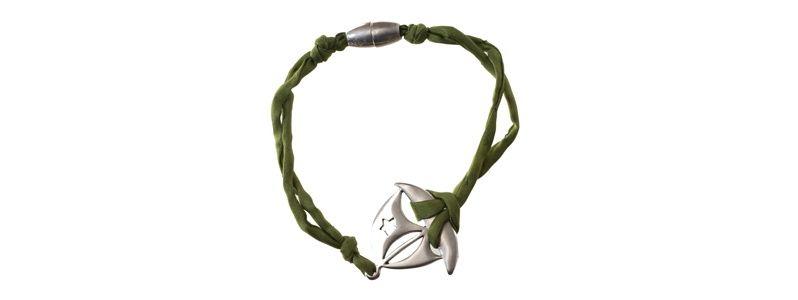 Seiden-Armband Grün Schiff