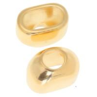 Endkappe für Band 4 mm, 17,5 x 14 mm, vergoldet