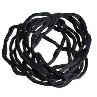 Habotai-Seidenband, Durchmesser 3 mm, Länge 110 cm, schwarz