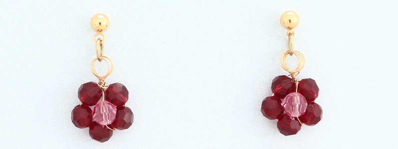 Ohrringe mit Perlen von Preciosa Blume