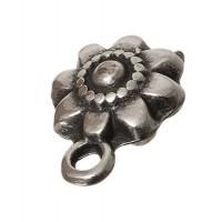 Metallanhänger Blume, ca. 11 mm, versilbert