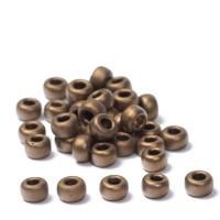 Miyuki Rocailles rund 6/0 (ca. 4 mm), Metallic Bronze Matte, ca. 20 gr