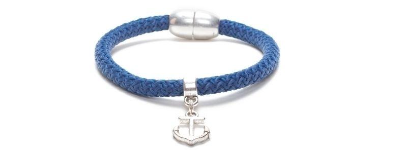 Armband Navy Peony mit Segelseil