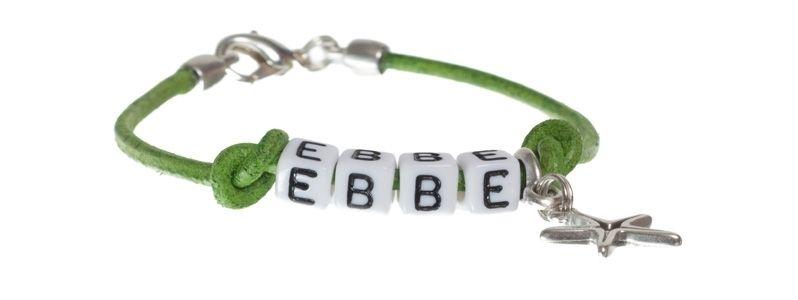 Buchstabenarmband Ebbe