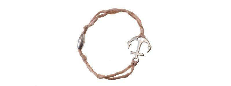 Seiden-Armband Rosa Anker