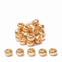 Miyuki Rocailles rund  8/0 (ca. 3 mm), Gold Galvanized, 22 gr.