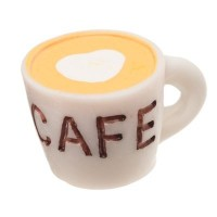 Kunststofffigur Kaffeetasse, 16 x 25 x 20 mm, weiß