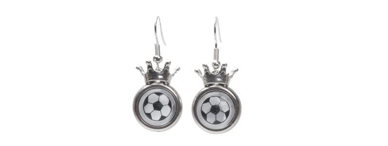 Fußball-Love Ohrringe Krone