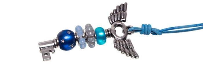 Wechselschlüssel Geflügelt Blau