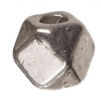 CM Metallperle Polygon, 4x 4 mm, silberfarben