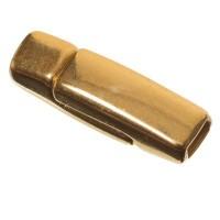Magnetverschluss, viereckig, für breite Bänder (3 x 1,5 mm), vergoldet