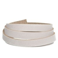 Craft Lederband, 10 mm x 2 mm, Länge 1 m, Ecru