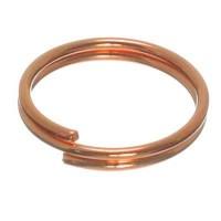 Spaltring, Durchmesser ca. 10 mm, rosevergoldet