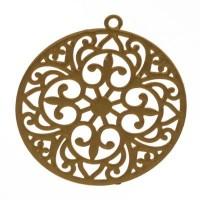Metallanhänger Boho Rund filigran, 22 x 20 mm, goldfarben