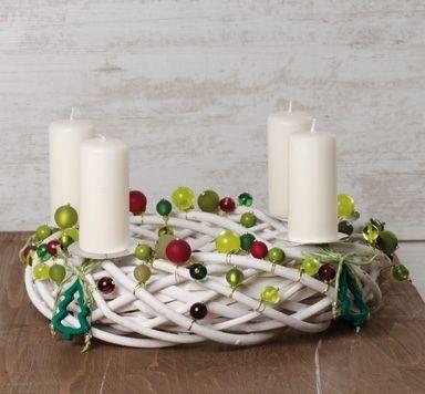 Adventskranz mit Perlen
