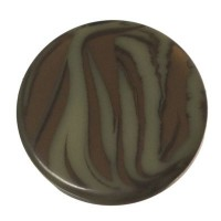 Polaris Cabochon Animalprint Zebra, rund, flach, 12 mm, golden sage-schwarz