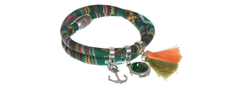 Boho-Armband Grün