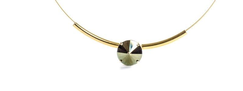 Goldige Colliers mit Swarovski Rivoli CVM