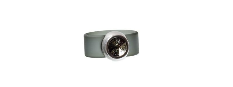Rivoli Ring Silver Patina