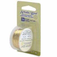 Beadalon Artistic Wire (Modellierdraht), 26 Gauge (0,41 mm), messingfarben, Rolle mit 15 yd (13,7 m)
