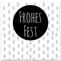 """Schmuckkarte """"Frohes Fest"""", weiß, quadratisch, Größe 8,5 x 8,5 cm"""