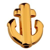 Metallperle Anker, 10 x 12 mm, vergoldet