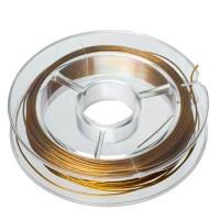 Schmuckdraht, 0,45 mm, goldfarben, 10 Meter-Rolle