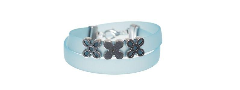 PVC-Armband mit Schiebeperle Blume