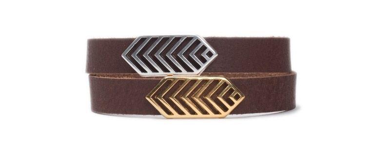 Armband mit Schiebeperlen Rauten