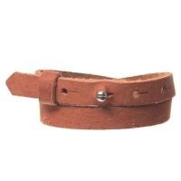 Craft Lederarmband für Sliderperlen, Breite 10 mm, Länge 39 - 40 cm, chestnut