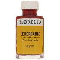 Morello Lederfarbe, Flasche mit Auftragepinsel, 40 ml,  Bordeaux