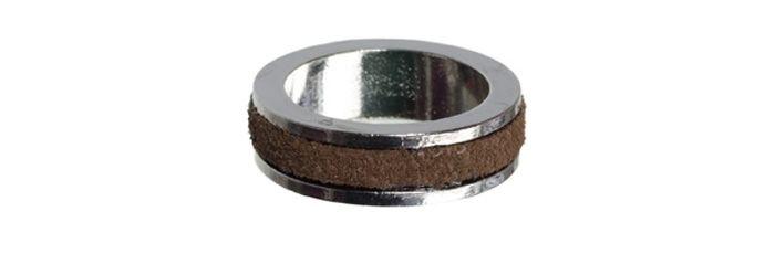 Decorate Ring Leder Braun