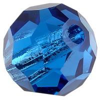 Preciosa Round Bead/Kugel, 6 mm, capri blue